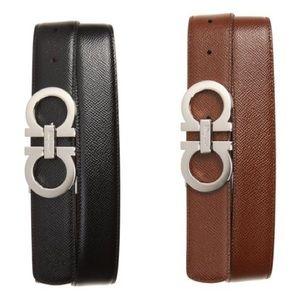 Salvatore Ferragamo Reversible Pebbled Belt